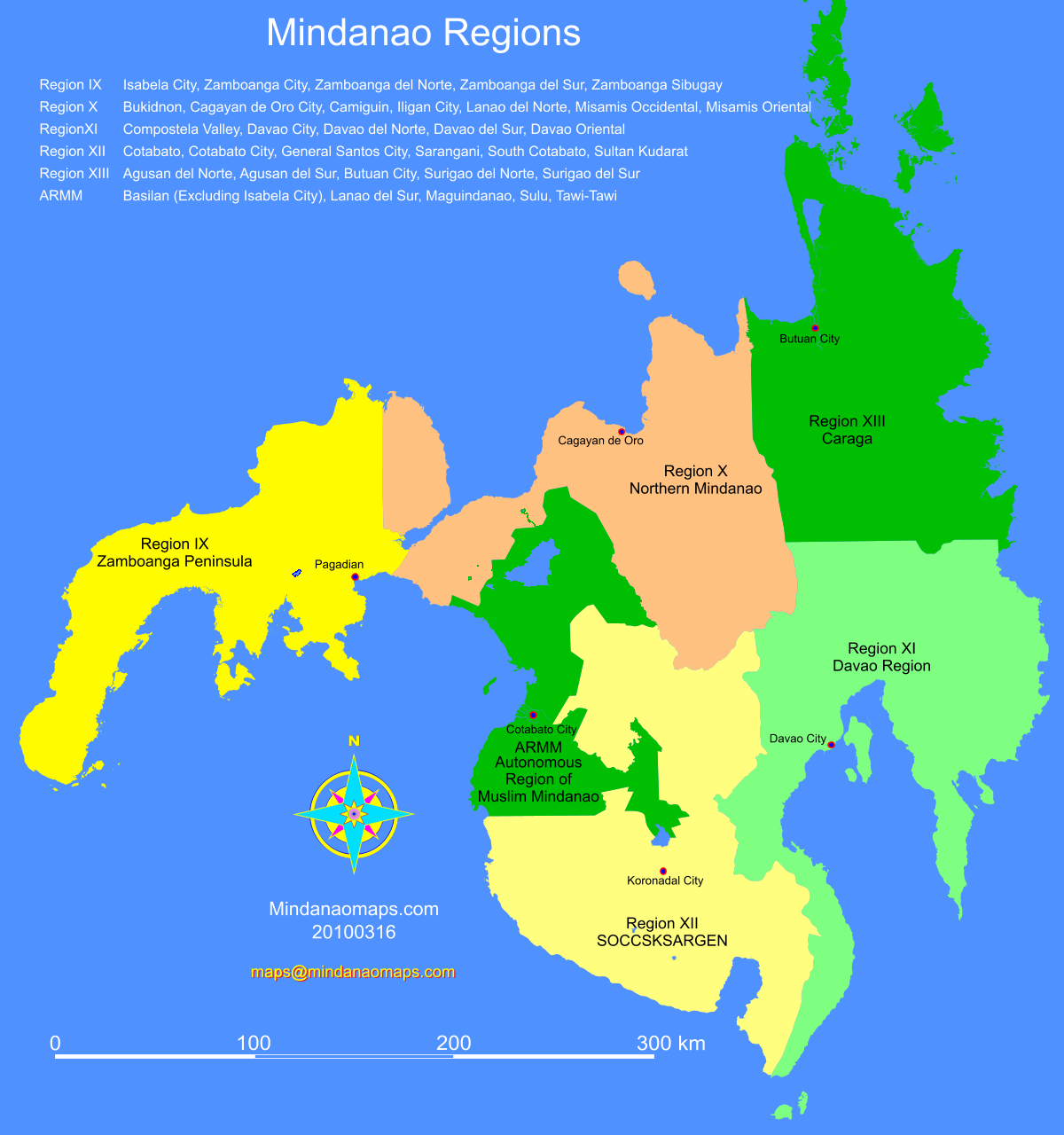 Mindanao regions mindanao maps for gumiabroncs Image collections