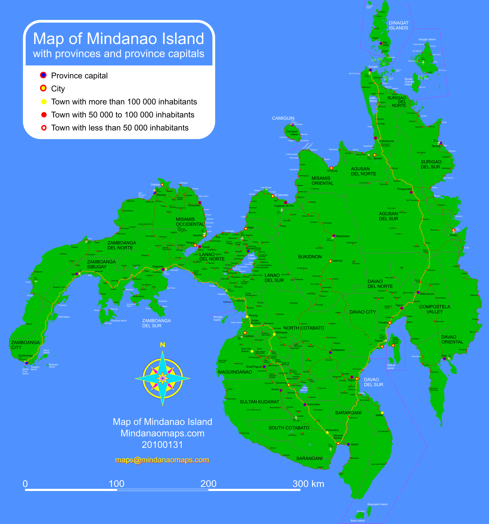 Maps And Directions: Mindanao Maps