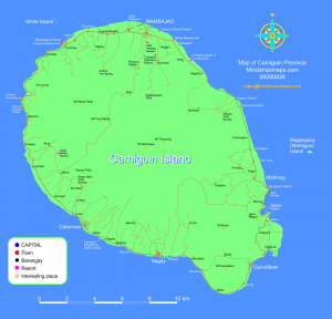 Map of Camiguin Island