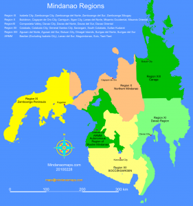 Map of Mindanao Regions